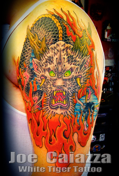 Dragon tattoo by Joe Caiazza
