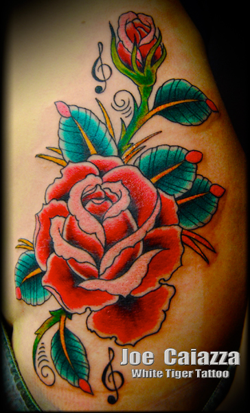 rose tattoo by Joe Caiazza